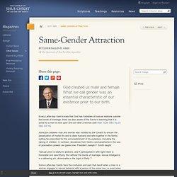 Same-Gender Attraction - Ensign Oct. 1995