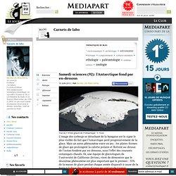 Samedi-sciences (92): l'Antarctique fond par en-dessous
