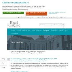 Samenvatting advies wetsvoorstel Wijziging Mediawet 2008