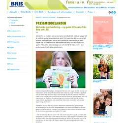 Barnens Rätt I Samhället – BRIS pressmeddelanden