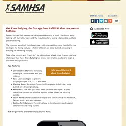 SAMHSA's KnowBullying Prevention App