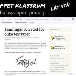 Samlingar och stöd för olika texttyper