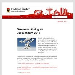 Sammanställning av Julkalendern 2015