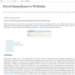 Pavel Samolysov's Website: 5.000.000 Messages per Day Handled by Oracle Service Bus 11g
