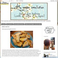 My Vegan Revolution: Samousas de feuilles de brick