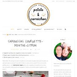 Samoussas courgette-menthe-citron