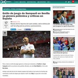 Estilo de juego de Sampaoli en Sevilla ya genera polémica y críticas en España - Fútbol Internacional