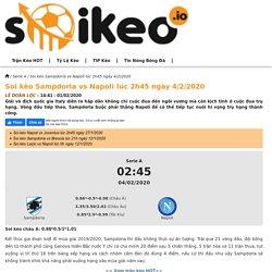 Soi kèo Sampdoria vs Napoli lúc 2h45 ngày 4/2/2020 - Soikeo IO
