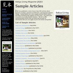 Sample Articles