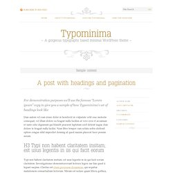 Sample content - Typominima