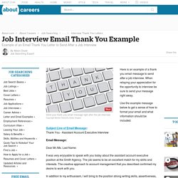 Sample Email Thank You Letter for an Interview