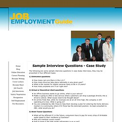 Sample Interview Questions - Case Study