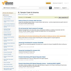 Sample Code & Libraries : Amazon Web Services