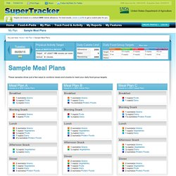 Sample Meal Plans