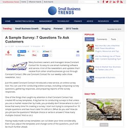 A Sample Survey: 7 Questions To Ask Customers