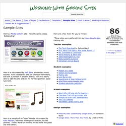 Sample Sites - Working With Google Sites