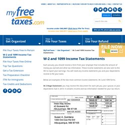 Sample Income Tax Statements 1099 and W-2