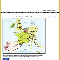 Sample Western Europe Travel Itinerary