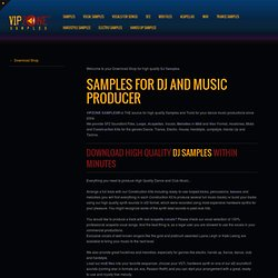 VIPZONE SAMPLES - Music Production, Samples, Vocals, Acapellas,