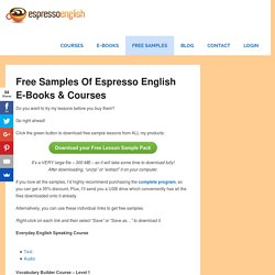 Free Samples of Espresso English E-Books & Courses – Espresso English