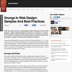 Grunge In Web Design: Samples And Best Practices