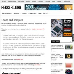 Free loops and samples by rekkerd.org, download royalty-free quality audio samples for your music at rekkerd.org