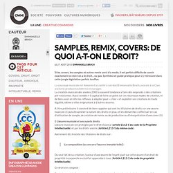 Samples, remix, covers: de quoi a-t-on le droit?