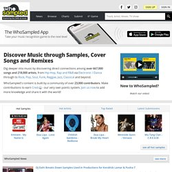 WhoSampled - Discover and Discuss Music Samples and Cover Songs