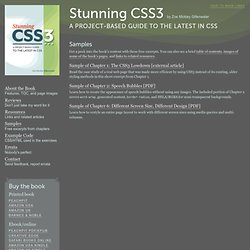 Samples | Stunning CSS3: A Project-based Guide to the Latest in CSS | A book by Zoe Mickley Gillenwater