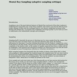Mental Ray Sampling (adaptive sampling settings)