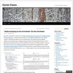 """Gibbs Sampling for the Uninitiated"" for the Uninitiated 