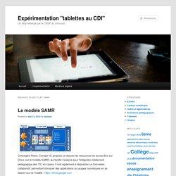 """Expérimentation """"tablettes au CDI"""""""