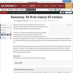 Flash Eco : Samsung a vendu 30 millions de Galaxy S3