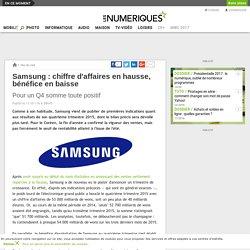 Samsung: chiffre d'affaires en hausse, bénéfice en baisse