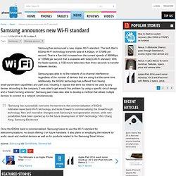 Samsung announces new Wi-Fi standard