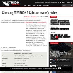 Samsung ATIV BOOK 9 Spin - an owner's review