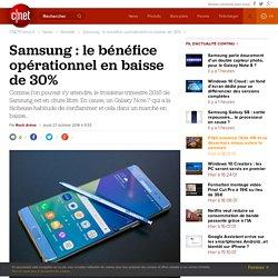 Samsung : le bénéfice opérationnel en baisse de 30%