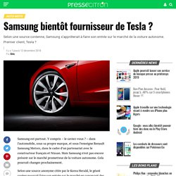 Samsung bientôt fournisseur de Tesla ?