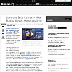 Samsung Ends Nokia's 14-Year Run as Biggest Handset Maker