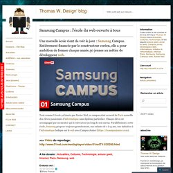 Samsung Campus : l'école du web ouverte à tous