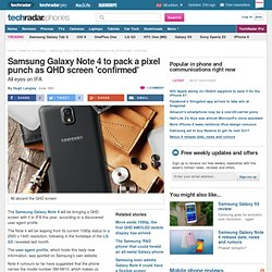 Samsung Galaxy Note 4 to pack a pixel punch as QHD screen 'confirmed'