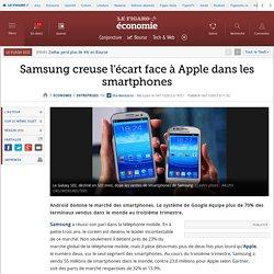 Samsung creuse l'écart face à Apple dans les smartphones