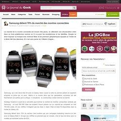 Samsung détient 70% du marché des montres connectées
