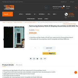 Samsung Galaxy Note 8 Display Assembly (LCD With Touch) (Black)