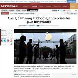 Apple, Samsung et Google, entreprises les plus innovantes