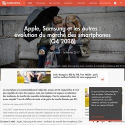 Apple, Samsung et les autres : évolution du marché des smartphones (Q2 2016) - Tech