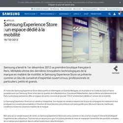 Experience Store : un espace dédié à la mobilité