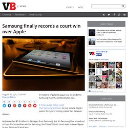 Samsung finally records a court win over Apple