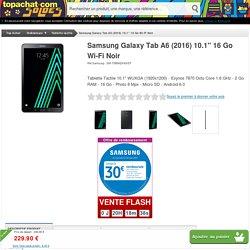 Samsung Galaxy Tab A6 (2016) 10.1'' 16 Go Wi-Fi Noir