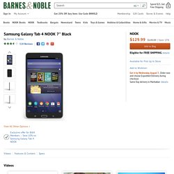 "Samsung Galaxy Tab 4 NOOK 7"" Black by Barnes & Noble"